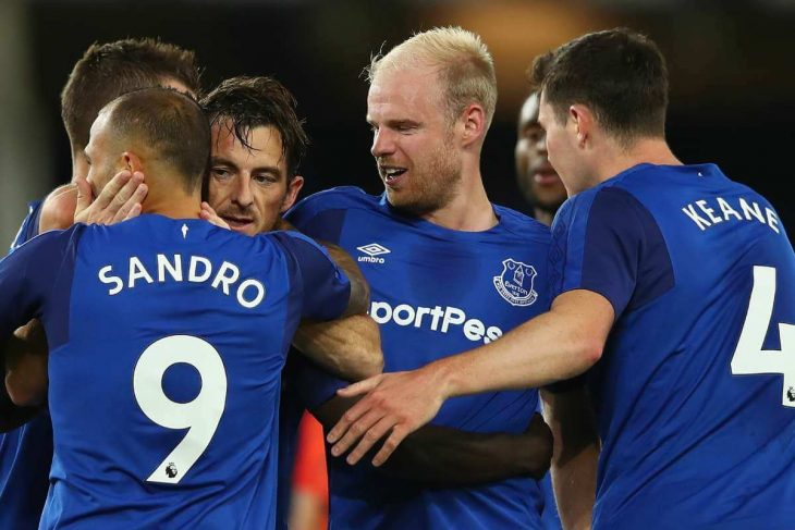 Everton takes lead against Hajduk in Europa League first playoff round