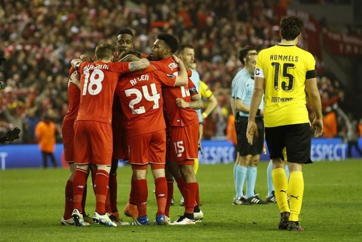 Liverpool overcomes Dortmund to Europa League semi-final