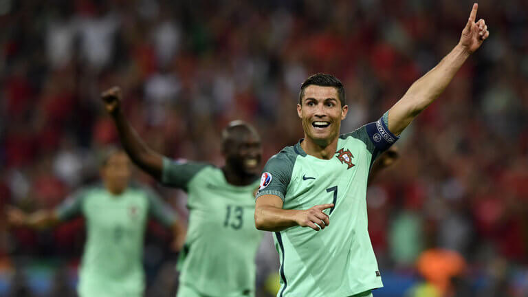 Ronaldo and Nani combines to end Welsh adventure