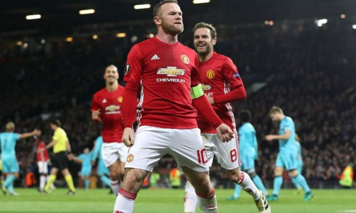 United thrashes Feyenoord thanks to Rooney leadership
