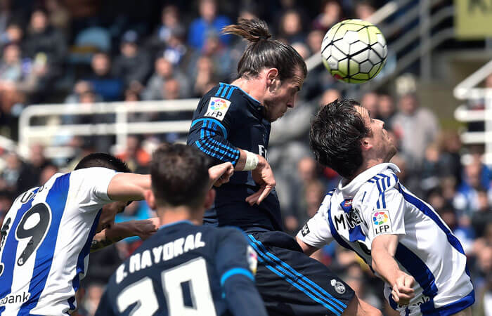 Gareth Bale nets brace for weakened Real side