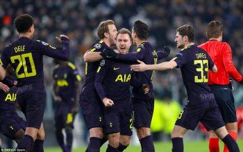 Champions League: Eriksen and Kane strikes cancel early Higuain brace
