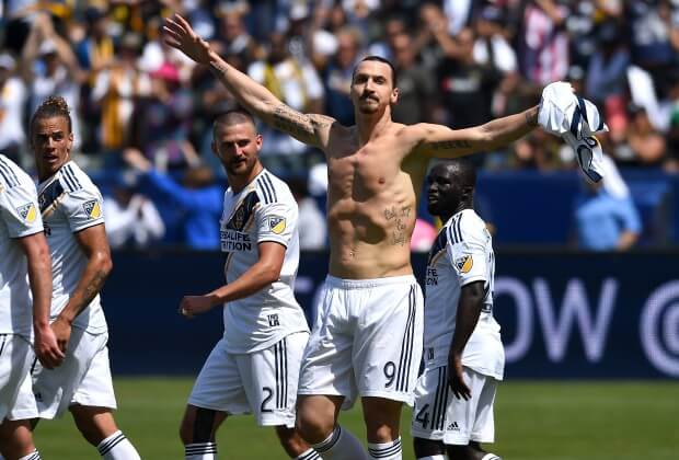 Zlatan Ibrahimovic makes dream debut at LA Galaxy with brace and winner