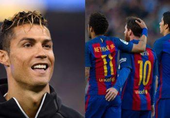 Cristiano Ronaldo memperkenalkan kembar setelah kampanye Piala Konfederasi