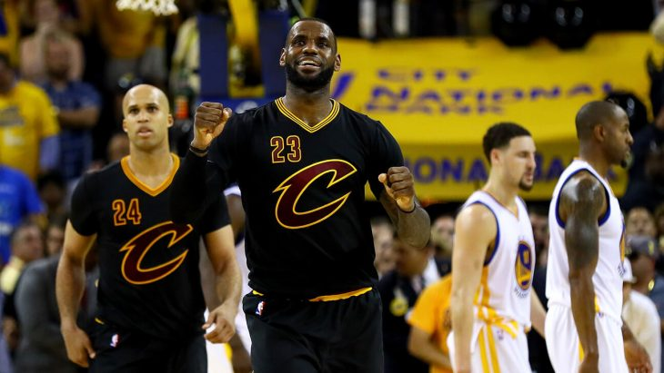 LeBron James led the Cavaliers to NBA victories