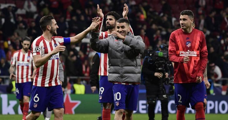 Atletico took the first leg in the Champions League battle.