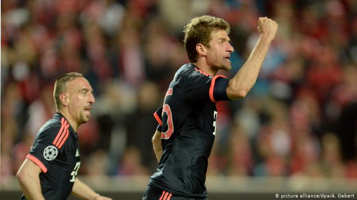 Benfica narrowly beat Borussia Dortmund.