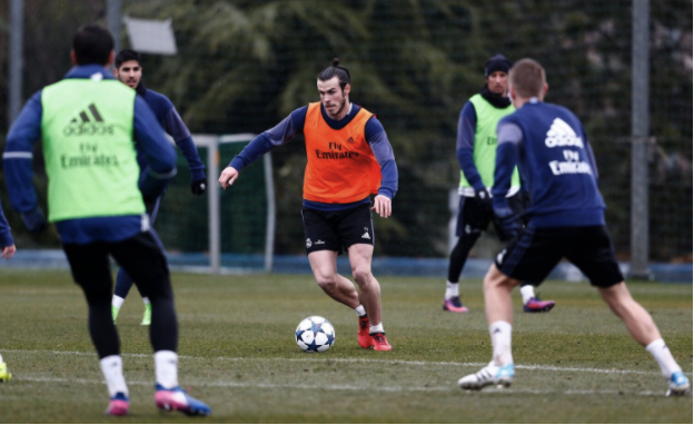 Real Madrid reveal Gareth Bale to practice before competing with Napoli