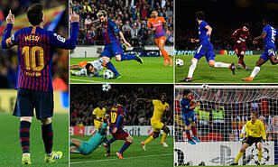 Messi scores hat-trick as Barca destroys Celtic confidently