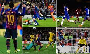Messi scores hat-trick as Barca destroys Celtic confidently