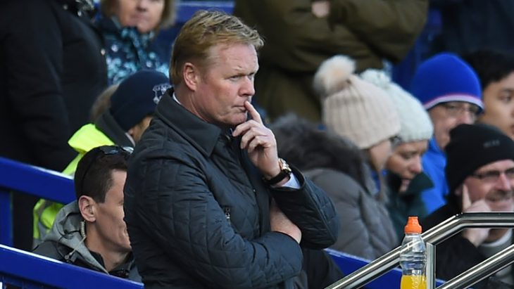 Koeman sacked after Everton falls to Premier League drop zone