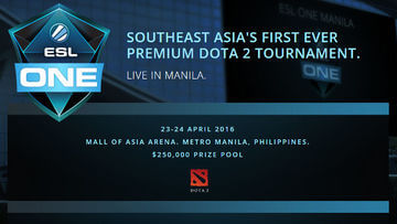 ESL to hold Dota 2 tournament in Manila
