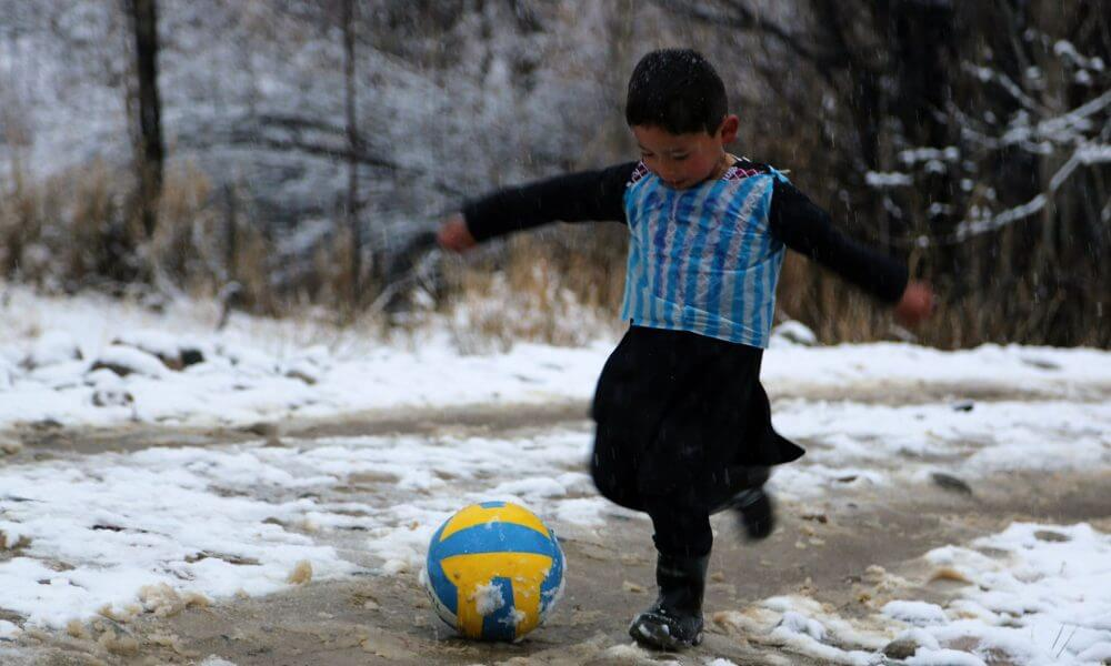 Lionel Messi meets Afghan boy with homemade plastic jersey